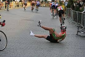 upadek kolarza