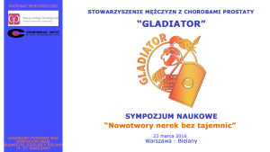 Sympozjum naukowe 22.03.2016 Nowotwory nerek bez tajemnic